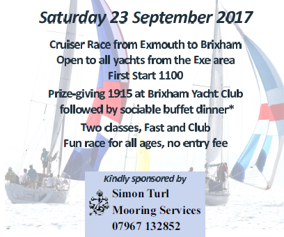 River Exe Champagne Challenge.  Saturday 23rd September